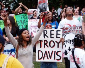 Protesters gathered in Atlanta to demand clemency for Troy Davis