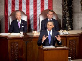 President Obama delivering his jobs speech to a joint session of Congress