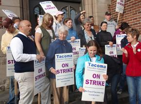 Striking teachers in Tacoma, Wash., have defied a judge's order