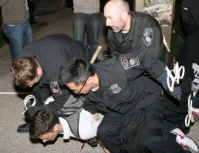 Police arrested more than 100 activists at the Occupy Boston encampment