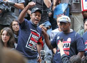Transit workers speak out at Occupy Wall Street