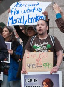 Occupy activists rally in downtown Seattle