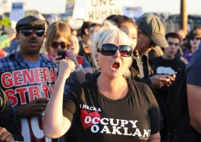 Tens of thousands on the march during Oakland's day of action November 2
