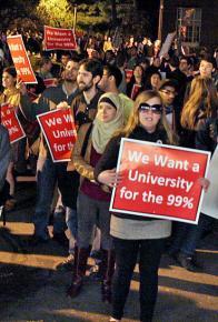 Occupiers march on Harvard Yard