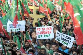 Protesters march in Pakistan against U.S. military attacks