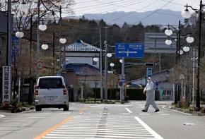 A deserted zone near the Fukushima-Daiichi plant in the weeks following the earthquake and tsunami
