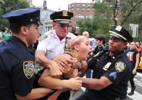 New York police arrest a Wall Street occupier