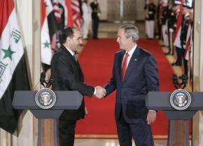 Iraqi Prime Minister Nuri al-Maliki with George W. Bush