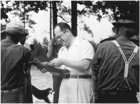 Dr. John Charles Cutler with victims of the Tuskegee study