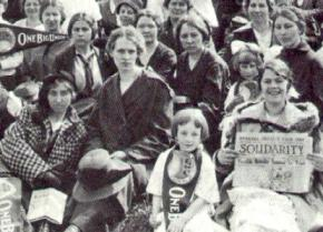 Strikers and their children during the 1912 Lawrence textile strike