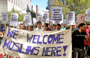 Protesters stand up to Islamophobia in New York City