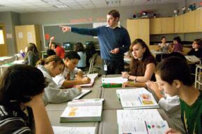 A teacher in a Massachusetts high school