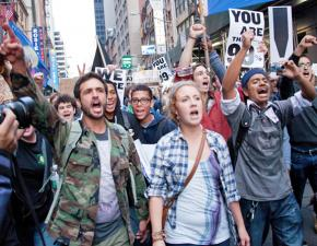 Occupy protesters march in New York City