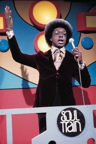 Don Cornelius on the set of Soul Train