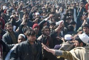 Protesters march against the U.S. occupation in Kabul in February
