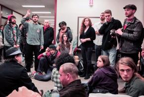 Students and supporters occupy DePaul's student center