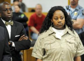Tanya McDowell appearing in court