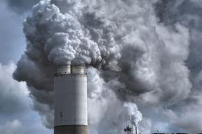 Pollution pours from a plant in Indiana