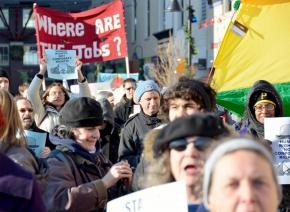 Occupy Pittsburgh on the march in December