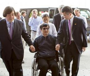 Chen Guangcheng at the U.S. embassy in Beijing