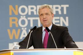 Norbert Röttgen on the campaign trail