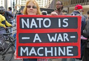 Demonstrators protest against the NATO summit in Chicago