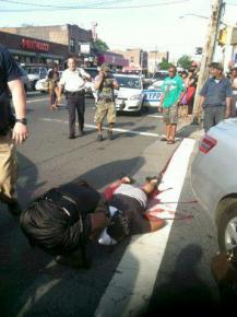 Shantel Davis, shot by police in an intersection in the East Flatbush section of Brooklyn
