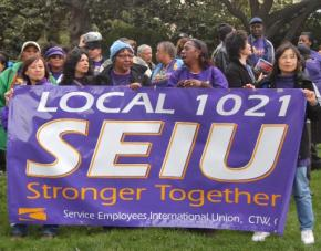 SEIU Local 1021 members and supporters
