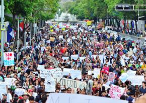 A mass gathering of Yo Soy 132 protesters