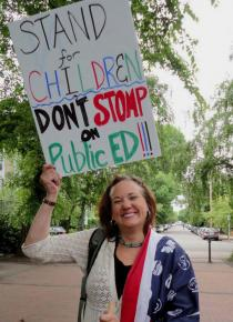 Educators, parents and students marched in Portland against corporate reform