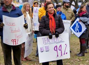 Rallying for teachers and public schools in Washington, D.C.