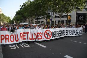 Spanish protesters march against austerity in Barcelona