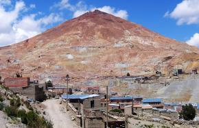 A silver mine in Bolivia