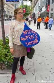 Protesting the Spectra pipeline in New York City