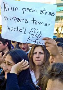 Chilean students continue to gather in mass protests to defend public education