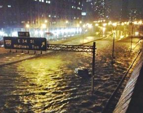 Manhattan deluged by flooding as Hurricane Sandy strikes