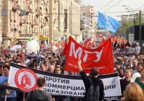 Protesters take to the streets of Moscow for May 6 protests