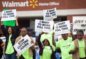 Wal-Mart workers join in a coordinated day of protests and work actions