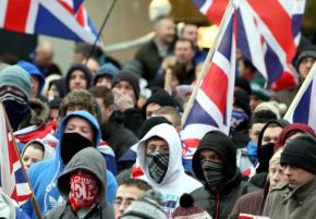 A Protestant flag protest held in Belfast
