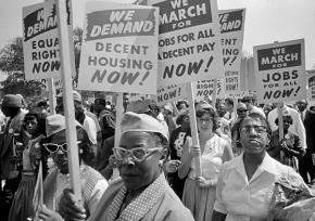 Marching for jobs and freedom in Washington in 1963