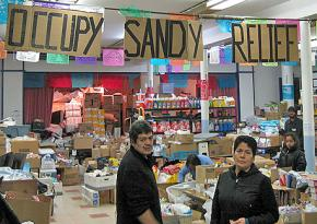 An Occupy Sandy distribution center in Brooklyn