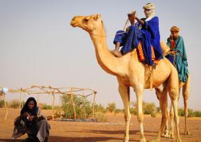 Tuareg travelers in Northern Mali