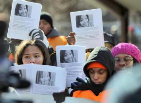 Students and community members gather following Hadiya Pendleton's murder