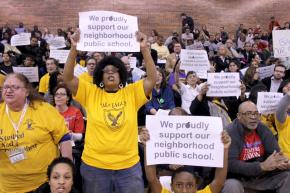Parents, teachers, students and community activists protest CPS plans to close more neighborhood schools