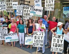 Supporters of the BDS movement against Israel call on shoppers not to buy Sodastream