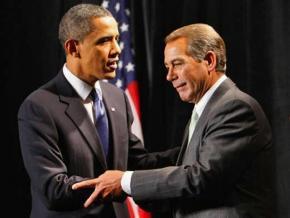 President Obama with John Boehner