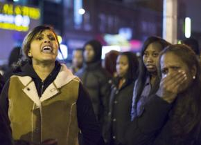 Family members, Flatbush residents and activists joined in nightly protests after the police murder of Kimani Gray