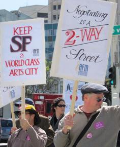 San Francisco Symphony Orchestra musicians on strike