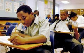 Students taking a standardized test