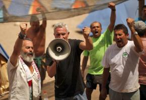 Rallying at an occupiers' encampment at Turquillas in Andalusia
